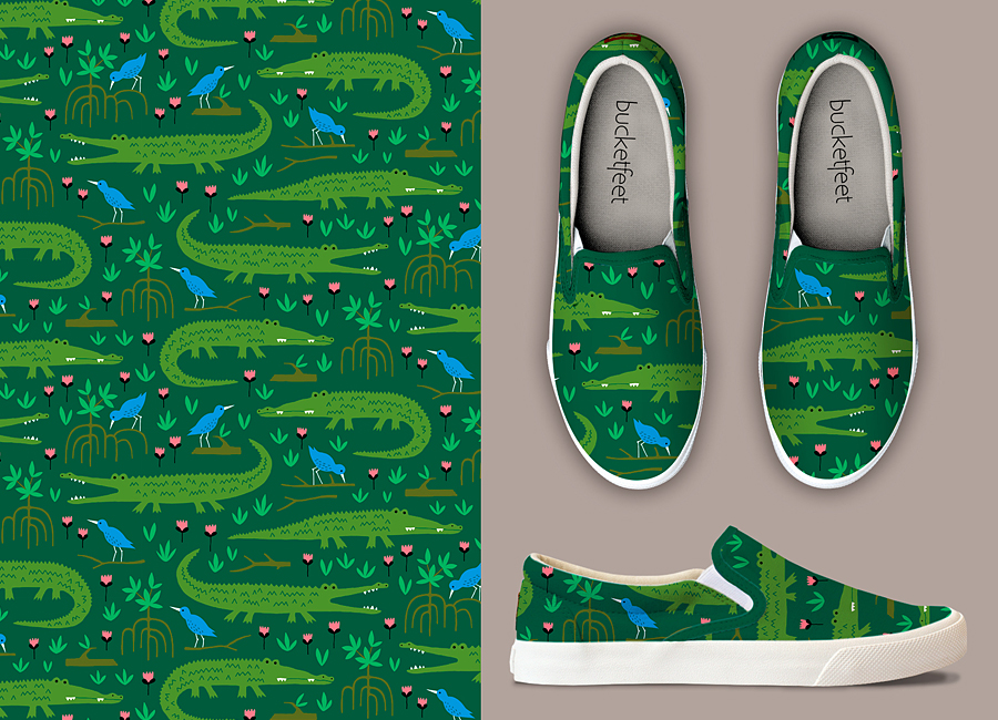 rainforest crocodile pattern by HvdT