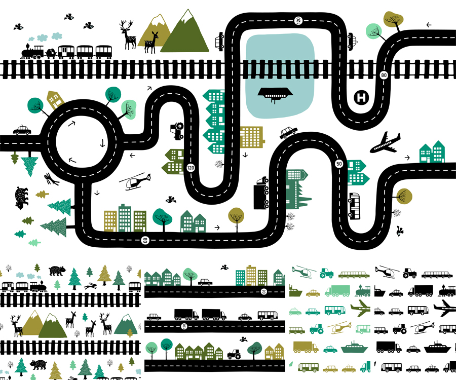 road map design by HvdT