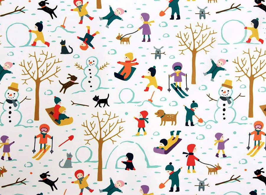 Snow day pattern by HvdT