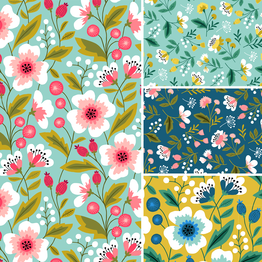 spring florals design by HvdT