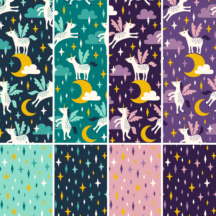 unicorn pattern by HvdT
